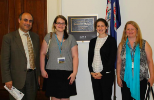 The Virginia Group — Dr. Kamal Chemali, myself, a member from Representative Jim Moran's office and Diane Boughton. (Not pictured is Pamela Robertson, one of our group members who took the picture)