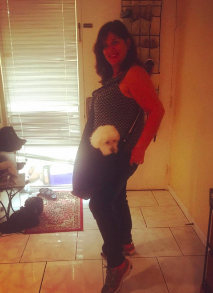 My mom with Sabrina in tow!